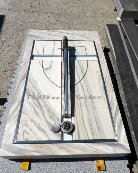 Granit Grabsteine Grabgestaltung Edelstahl Design 12 Juli 2013 9 032