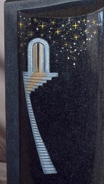 Granit Grabsteine Mittlböck Natursteine Material Galaxy Black