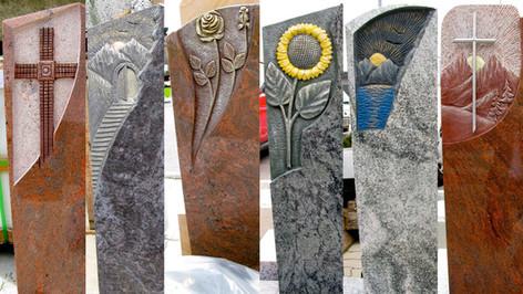 Granit, Grabsteine, Rudi Glantschnig Ornamente auf unseren Modellen
