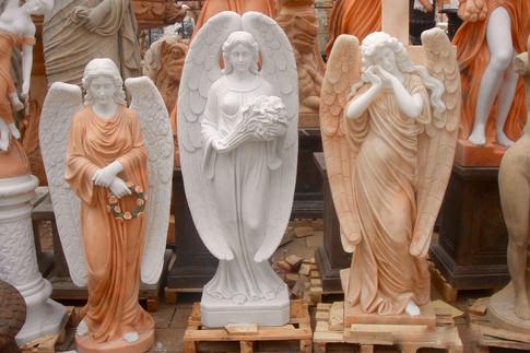 Engel, Engelsfiguren, Skulpturen, Marmor, 3 Engel