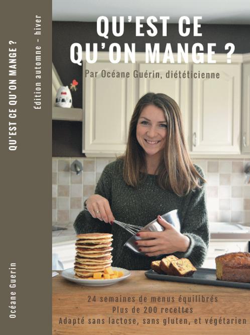 E book - Qu'est-ce qu'on mange -Automne Hiver