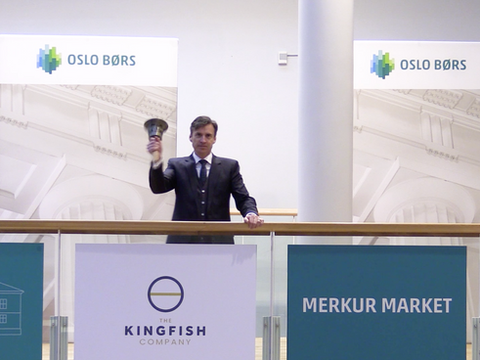 First day of listing for The Kingfish Company at the Oslo Merkur Market