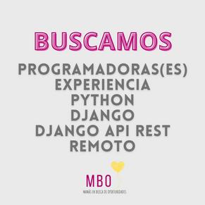 Programadora Python, Django y Django API rest