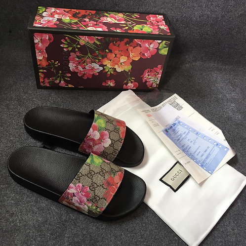 GUCCI GG Blooms Slide Sandals