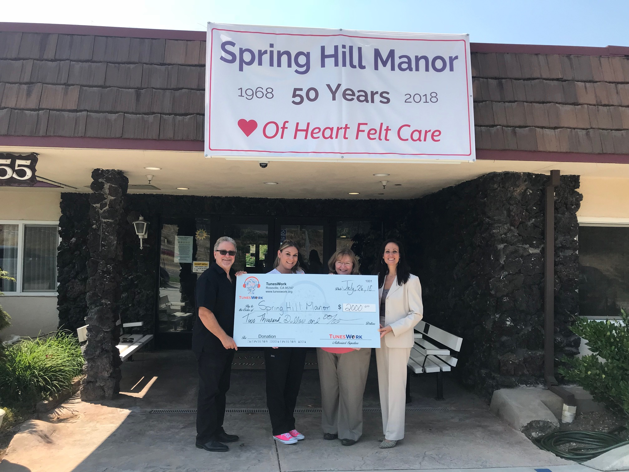 SpringHill Manor donation