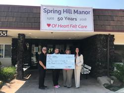 SpringHill Manor donation