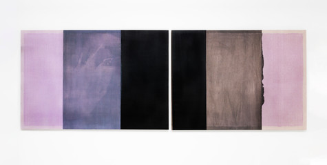 Untitled (Rectangles are lighter than squares, Dioxazine Purple), 2020