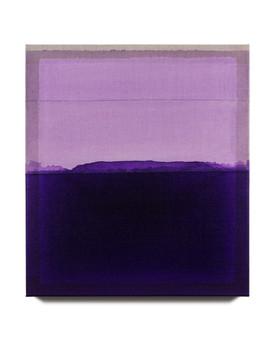 Rekindling (Interference Violet/Dioxazine Purple), 2021, acrylic on Italian linen, 46cm x 41cm.