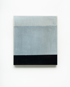 Rectangles are lighter than squares, 2020, acrylic on Italian linen, 40.5cm x 45.6cm.