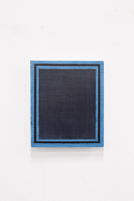 Blue/Black (Deliberate Pictures), 2020, acrylic on board, 25cm x 21cm.