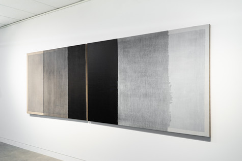 Installation view: Untitled (Rectangles are lighter than squares), 2020