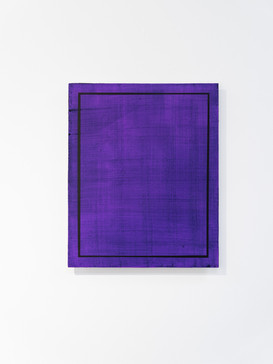 Rectangles are lighter than squares (Dioxazine Purple I), 2020, acrylic on board, 45.5cm x 37.5cm.