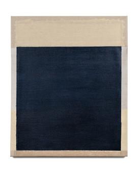 Rekindling (Gold/Navy), 2021, acrylic on Italian linen, 61cm x 51cm.