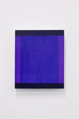 Purple/Black (Deliberate Pictures), 2020, acrylic on board, 25cm x 21cm.