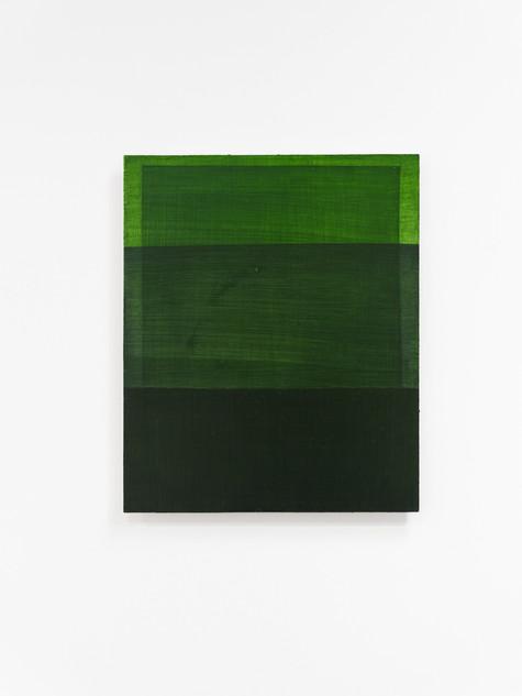 Rectangles are lighter than squares (Australian Sap Green), 2020