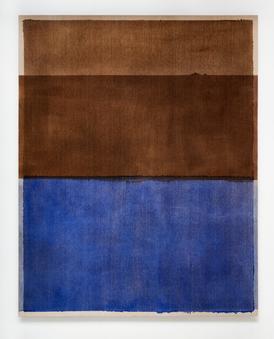 Untitled (Burnt Umber and Ultramarine Blue), 2020, Oil on Italian linen, 213cm x 168cm.