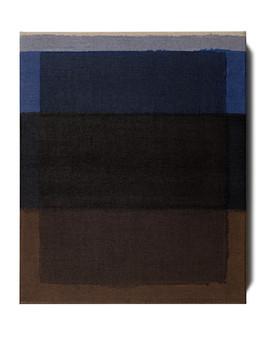 Burnt Umber and Ultramarine Blue II, 2021, oil on Italian linen, 46cm x 38cm.
