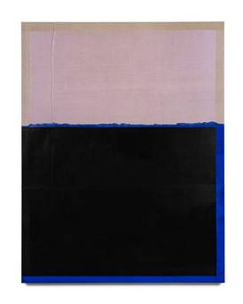 Rekindling (Blue/Interference Violet), 2021, acrylic on Italian linen, 137cm x 107cm.