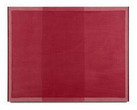 Monochrome (Quinacridone Crimson), 2021, acrylic on Italian linen, 137cm x 107cm.