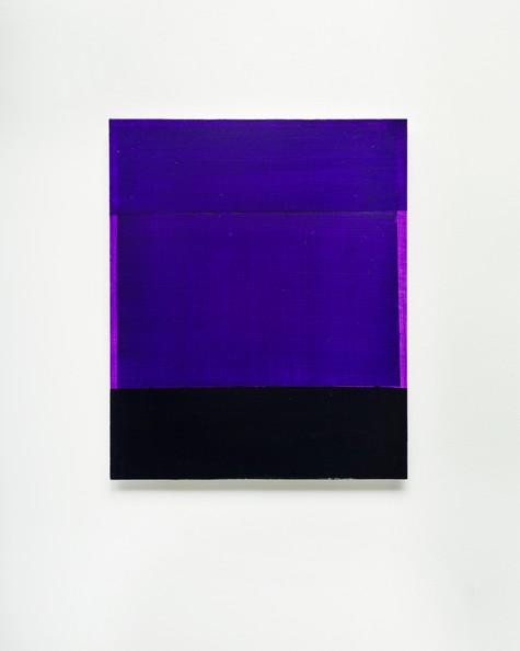 Rectangles are lighter than squares (Dioxazine Purple I), 2020