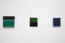 Untitled (Green), 2020, acrylic on Italian linen, 30.5cm x 30.5cm.