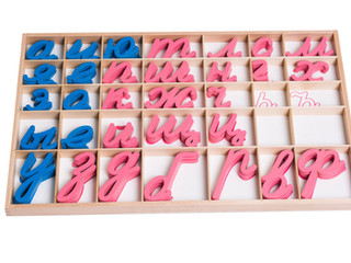 Почему в подвижном алфавите Монтессори гласные голубые, а согласные розовые?