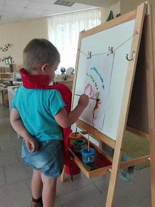 Искусство и письмо в Монтессори-классе