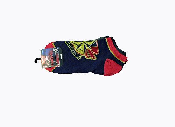 Marvel Universe Captain Marvel 3PC Ankle Socks - Accessories