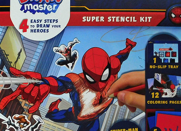 Marvel Comics Marvel Draw Master Spider-Man Stencil Kit Starter Set - Toys