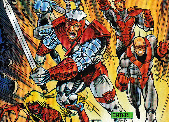 Judgment Day Issue/ # 6 Enter The Red Front Lightning Comics - Comics