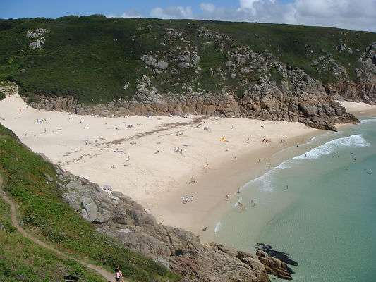 Porthcurno, Telegraph cable station, telegraph museum, logans rock, secluded beach, surfers, coastal walks, Treen, Local pub, lifeguards, The Minack theatre, cliff walks, seal spotting, rocks,