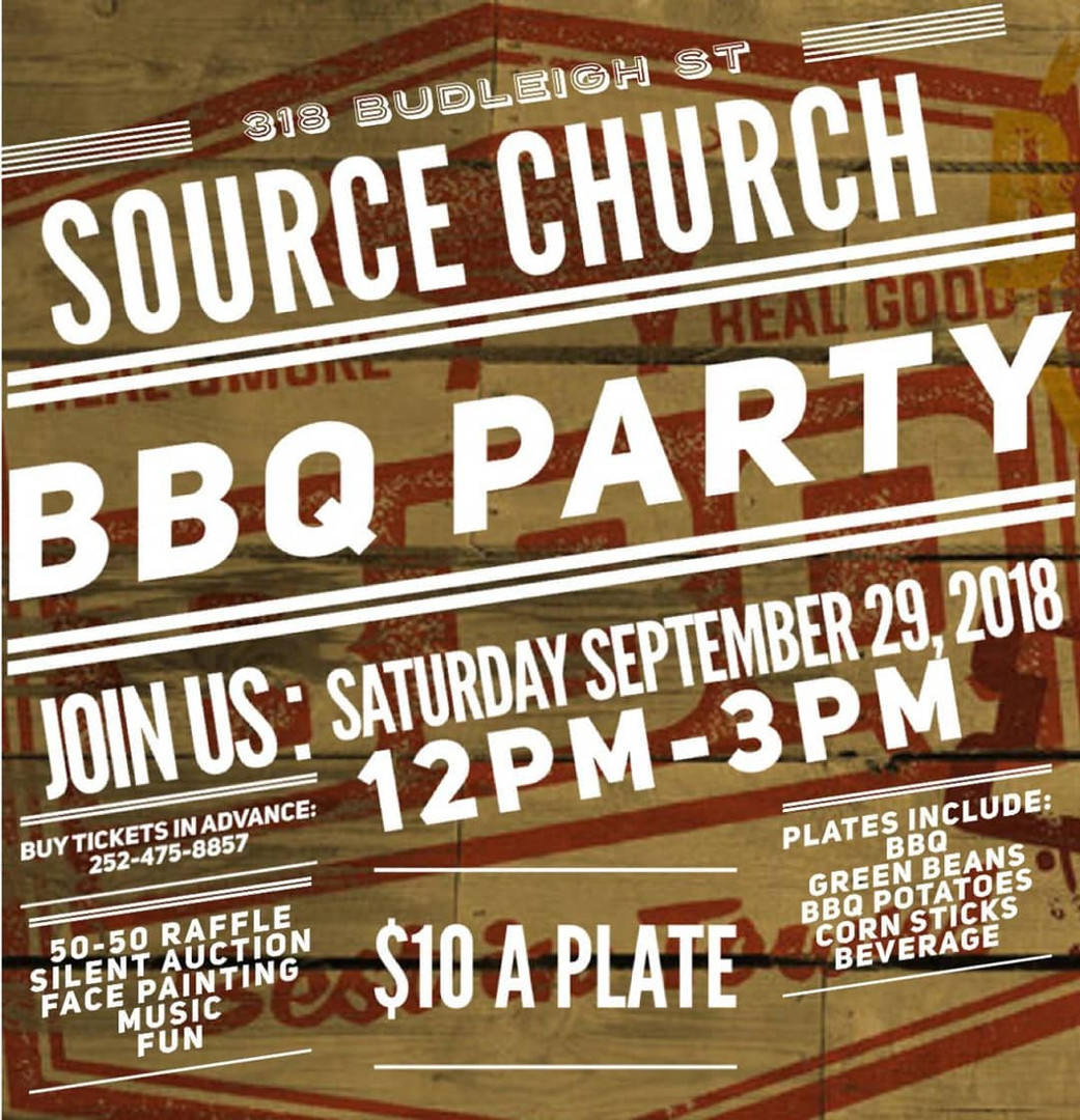 BBQ Plae Fundraiser - Source Church Mant