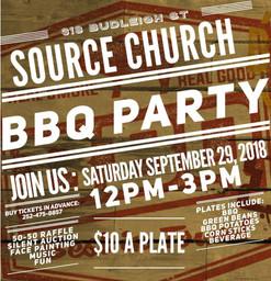 BBQ Plae Fundraiser - Source Church Mant