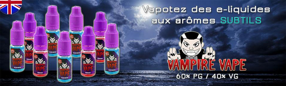 E-liquides VAMPIRE VAPE aux arômes Subtils à 4,99€ au lieu de 5,90€