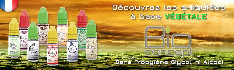 E-liquides BIO CONCEPT à Base Végétale à 4,79€
