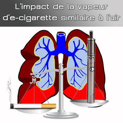 Etude : L'impact de la vapeur d'e-cigarette sur les poumons serait similaire à celle de l'air