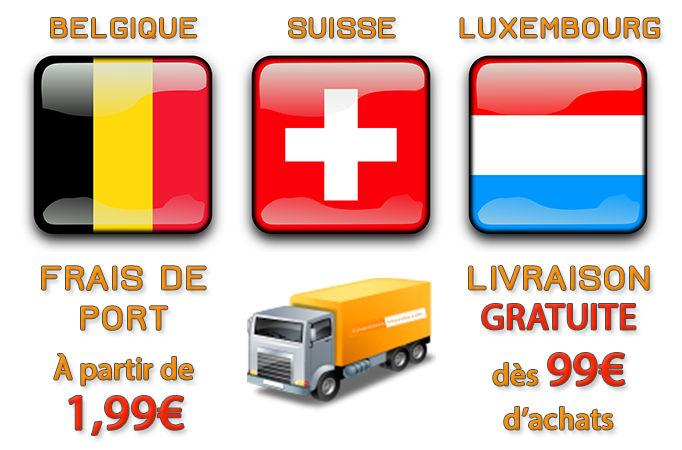 Livraison d'e-liquides et d'e-cigarettes vers Belgique, Suisse, Luxembourg et Europe