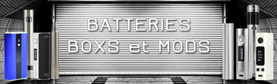 Batteries, Boxs, Mods E-cigarettes