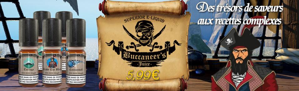 E-liquides BUCCANEER'S JUICE aux recettes complexes à 5,99€