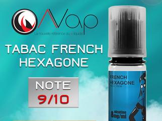 Test du e-liquide tabac AVAP FRENCH HEXAGONE : Un bon tabac brun léger. Note 9/10