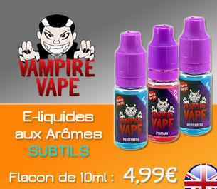 E-liquides VAMPIRE VAPE aux Arômes Subtils à 4,99€