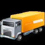 transport-camion-vehicule-jaune-icone-+-