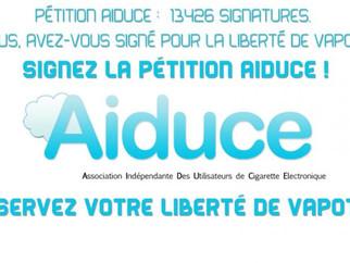 L'AIDUCE se mobilise contre la future Directive Européenne sur la cigarette électronique