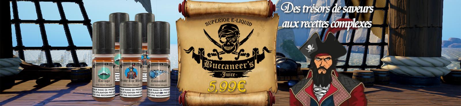 E-liquides BUCCANEER'S JUICE à 5,99€
