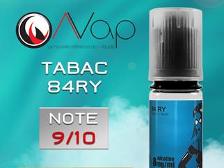 Test e-liquide tabac AVAP 84RY : Un tabac blond délicieux. Note 9/10