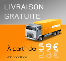 LIVRAISON GRATUITE à partir de 59€ d'achats