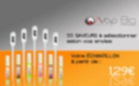 Echantillons d'eliquides premiums de 2ml à partir de 1,29 euros et 55 saveurs et arômes au choix : AVAP, Bio Concept