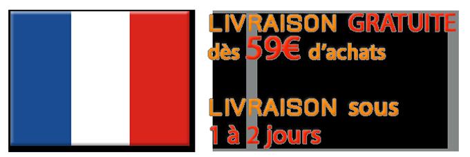 Livraison Gratuite vers la France Métropolitaine dès 59€ et livraison sous 1 à 2 jours