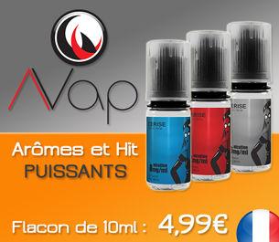 E-liquides AVAP à 4,99€ : e-liquides Prémiums aux arômes et hit puissants