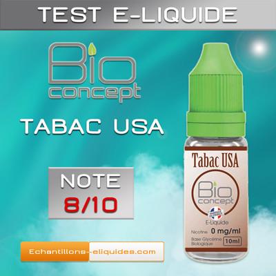Test e-liquide BIO CONCEPT TABAC USA : Un tabac blond mi-sec à base végétale de bonne facture - Blog du vapoteur sur www.echantillons-eliquides.com